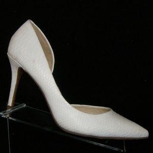 Jessica Simpson Livvy white leather snake heel 10M